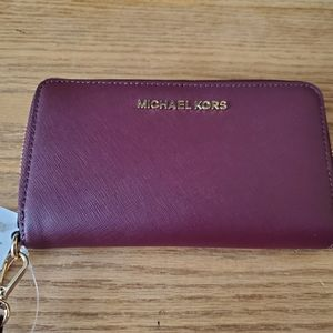 Brand New Michael Kors Large Travel Jet Set Wallet